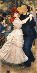 Dance at Bougival 1883 - Pierre Auguste Renoir reproduction oil painting