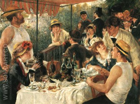 The Luncheon of the Boating Party 1881 - Pierre Auguste Renoir reproduction oil painting