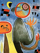 Ladders Cross the Blue Sky 1953 - Joan Miro reproduction oil painting