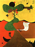 Portrait of Mrs Mills 1929 - Joan Miro reproduction oil painting