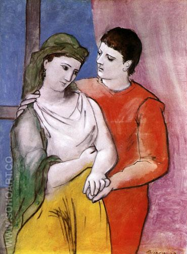 The Lovers 1923 - Pablo Picasso reproduction oil painting