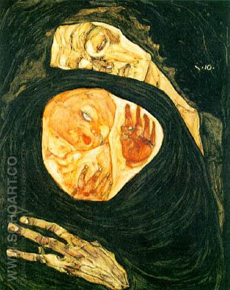 Dead Mother 1910 - Egon Scheile reproduction oil painting