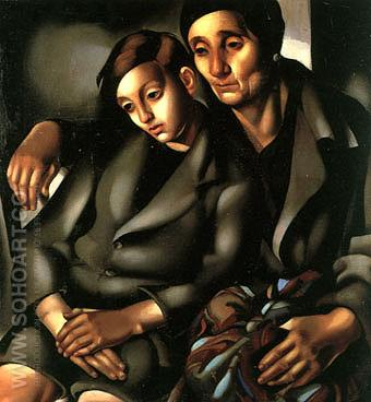 The Refugees 1937 - Tamara de Lempicka reproduction oil painting