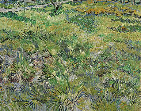 Long Grass with Butterflies - Vincent van Gogh reproduction oil painting