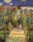 The Artist's Garden at Vetheuil - Claude Monet reproduction oil painting