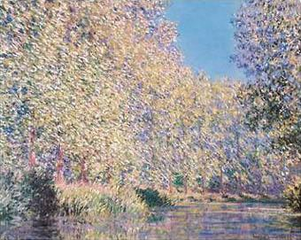 Bend in the Epte River - Claude Monet reproduction oil painting