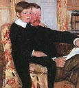 Alexander Cassatt and His Son Robert (1985) Detail - Mary Cassatt reproduction oil painting