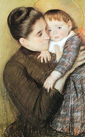 Helene de Septeuil 1889 - Mary Cassatt reproduction oil painting