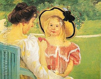 In the Garden 1904 - Mary Cassatt reproduction oil painting