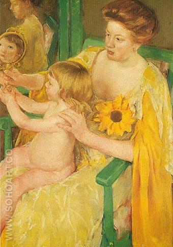 Mother and Child 1905 - Mary Cassatt reproduction oil painting