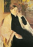 Mrs Robert S Cassatt The Artists Mother 1889 - Mary Cassatt reproduction oil painting