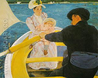 The Boating Party 1894 - Mary Cassatt reproduction oil painting
