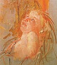 Young Child in its Mothers Arms Looking at Her with Intensity 1910 - Mary Cassatt reproduction oil painting