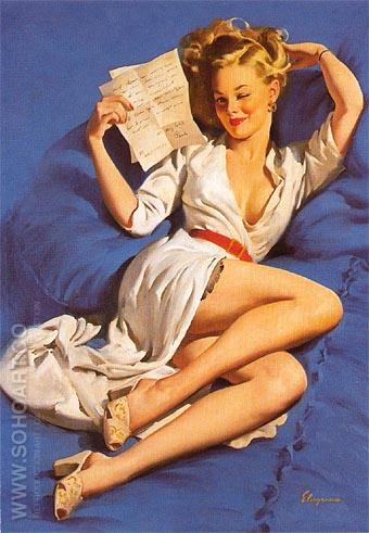 Gil Elvgren He Thinks Im Too Good to Be True 1947 - Pin Ups reproduction oil painting