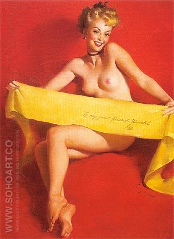 Gil Elvgren To Have 1951 - Pin Ups reproduction oil painting