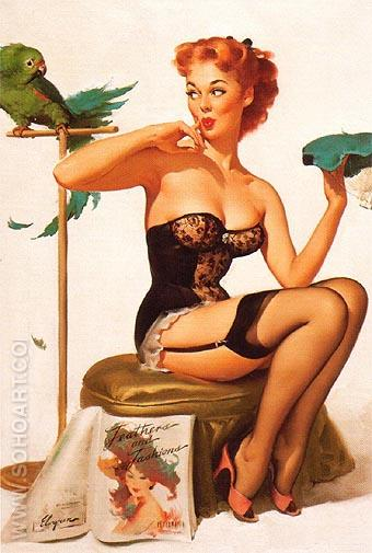 Gil Elvgren No You Don't 1956 - Pin Ups reproduction oil painting