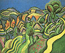 Ciurana the Path 1917 - Joan Miro reproduction oil painting