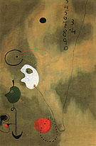 Calculation 1925 - Joan Miro reproduction oil painting