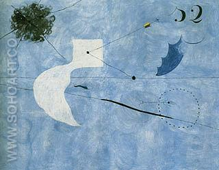 Siesta 1925 - Joan Miro reproduction oil painting