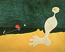 Person Throwing a Stone at a Bird 1926 - Joan Miro reproduction oil painting