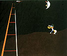 Dog Barking at the Moon 1926 - Joan Miro reproduction oil painting