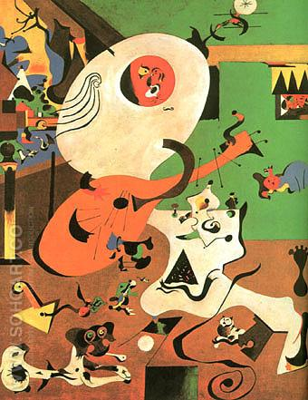 Dutch Interior 1 1928 - Joan Miro reproduction oil painting