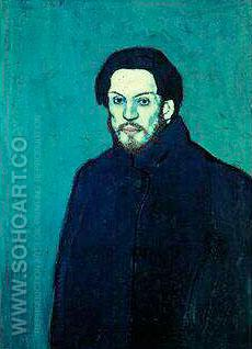 AUTOPORTRAIT 1901 - Pablo Picasso reproduction oil painting