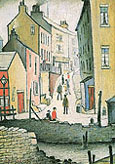 An Old Street 1937 - L-S-Lowry