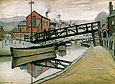 Barges on a Canal 1941 - L-S-Lowry
