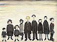 The Funeral Party 1953 - L-S-Lowry