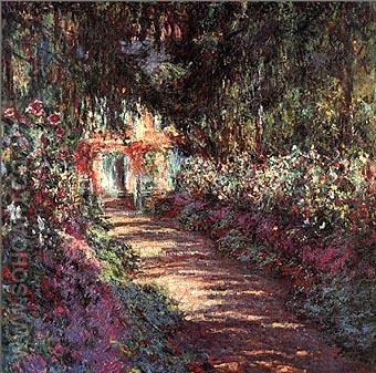Garden in Flower - Claude Monet reproduction oil painting