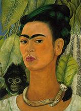 Self Portrait with Monkey 1938 - Frida Kahlo