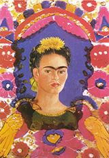 Self Portrait The Frame 1938 - Frida Kahlo