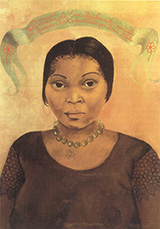 Portrait of Eva Frederick - Frida Kahlo