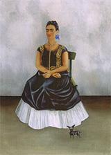 Self Portrait with Itzcuintli Dog 1938 - Frida Kahlo