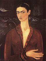Self Portrait in a Velvet Dress 1926 - Frida Kahlo