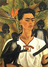 Self Portrait with Monkeys 1943 - Frida Kahlo