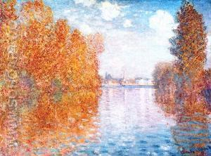 Autumn Argenteuil - Claude Monet reproduction oil painting