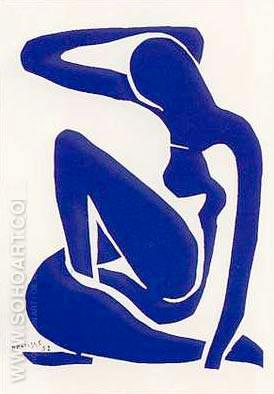 Blue Nude - Henri Matisse reproduction oil painting