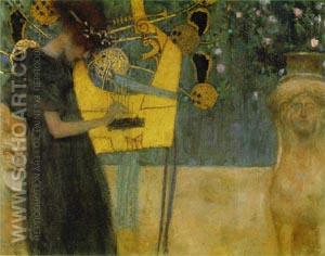 MUSIC 1 1895 - Gustav Klimt reproduction oil painting