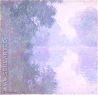 Morning Mist Giverny 1897 - Claude Monet reproduction oil painting