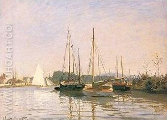 Bateaux de Plaisance Argenteuil - Claude Monet reproduction oil painting