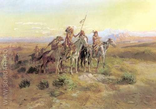 The Scouts - Charles M Russell reproduction oil painting