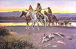 Carsons Men - Charles M Russell reproduction oil painting