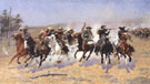 A Dash For Timber - Frederic Remington reproduction oil painting