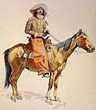 Arizona Cowboy - Frederic Remington reproduction oil painting