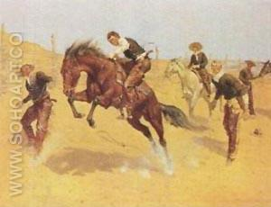 Turn Him Loose, Bill - Frederic Remington reproduction oil painting