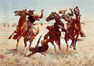 Aiding a Comrade - Frederic Remington reproduction oil painting