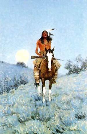 The Outlier - Frederic Remington reproduction oil painting