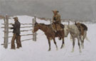 The Fall of the Cowboy - Frederic Remington reproduction oil painting